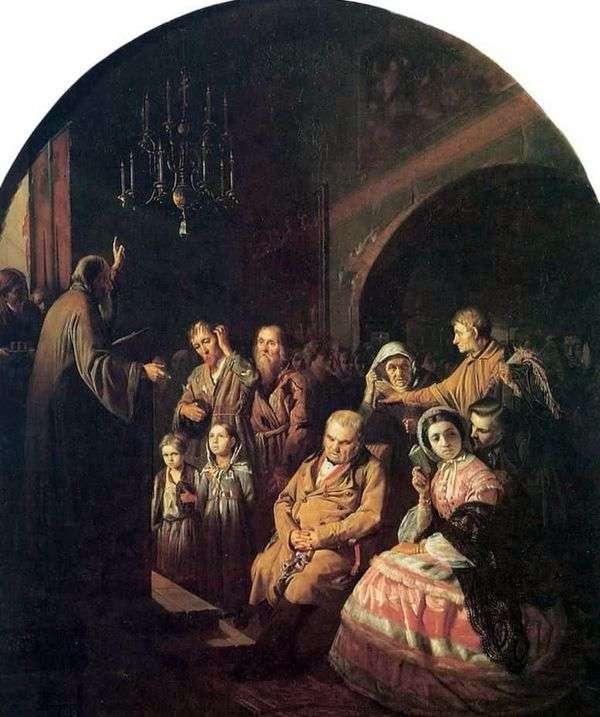 村の説教   Vasily Perov