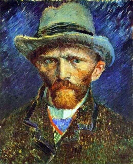 灰色の帽子の自画像   ヴィンセントヴァンゴッホ
