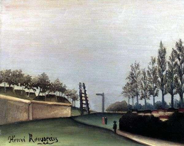 街の門ヴァン   アンリルソーからパリの眺め