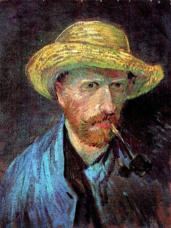 パイプと麦わら帽子の自画像   Vincent Van Gogh
