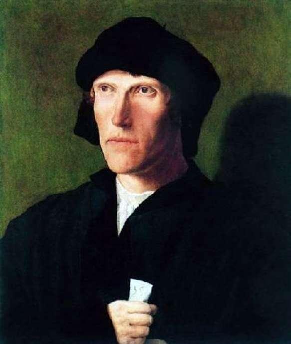 38歳の男性の肖像   ルーカス・ファン・ライデン