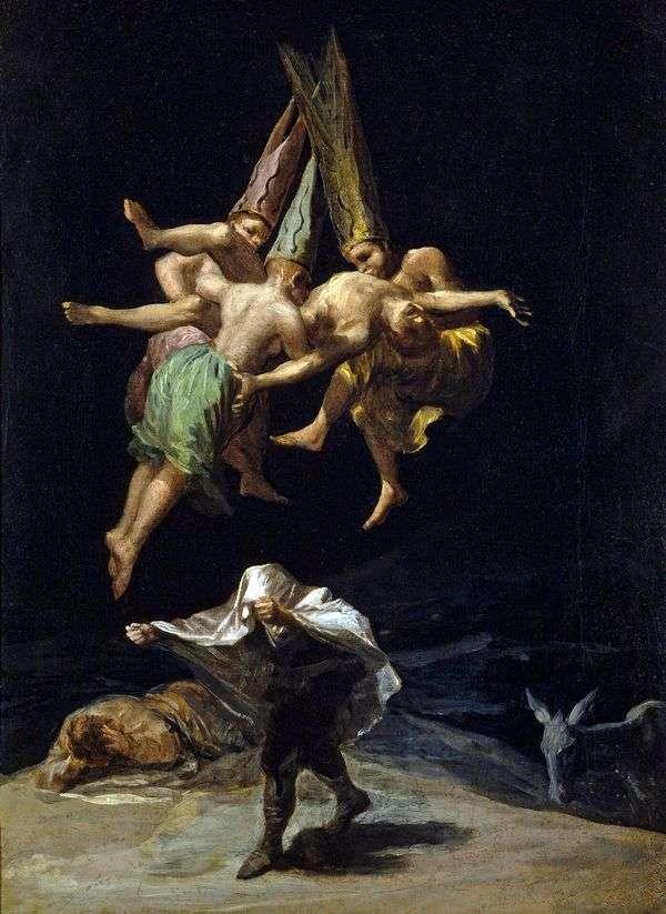 魔女の飛行   Francisco de Goya