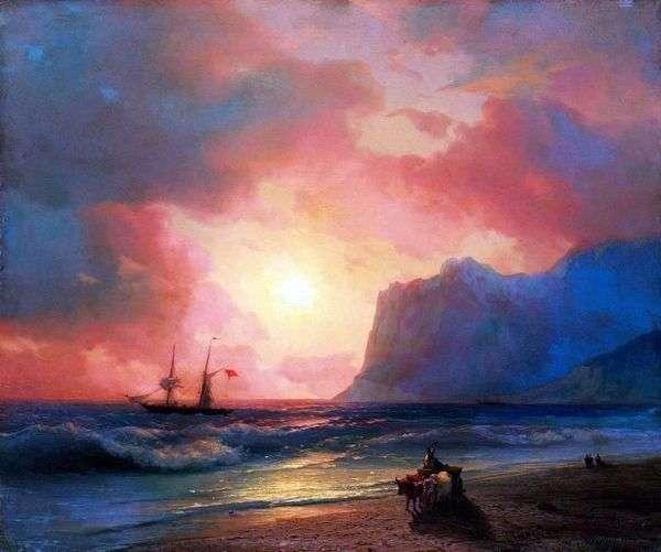 海に沈む夕日   Ivan Aivazovsky