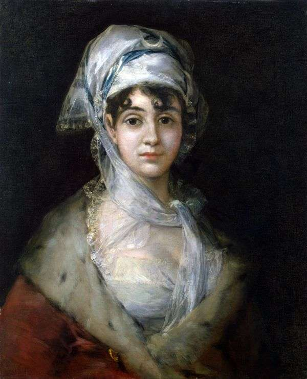 女優Antonia Zarate   Francisco de Goyaの肖像