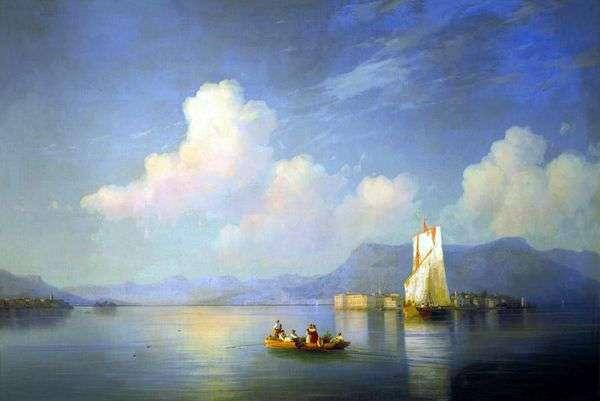 イタリアの風景 夕方   イワン・アイヴァゾフスキー