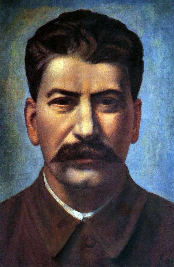 Joseph Stalin   Pavel Filonovの肖像