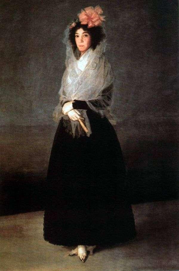カルピオ伯爵夫人、ソラナ侯爵夫人   Francisco de Goyaの肖像