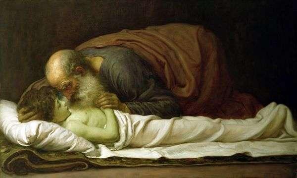 Elisha、スニニマンの息子の復活   Frederick Leighton