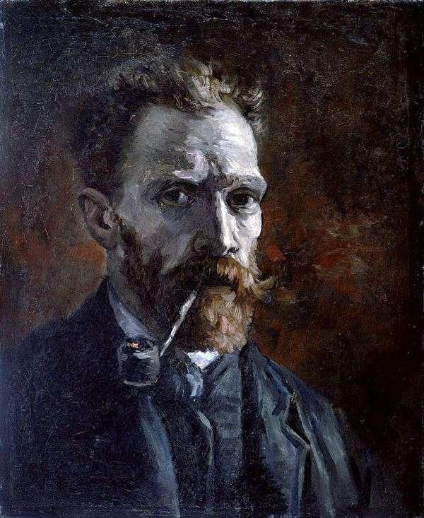 チューブ付きセルフポートレート   Vincent Van Gogh