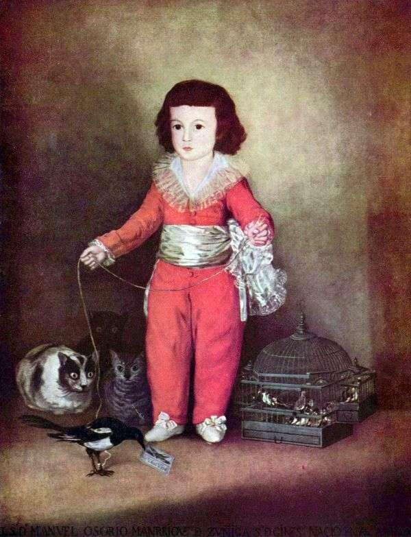 Don Manuel OsorioとZunig Francesco de Goyaの肖像