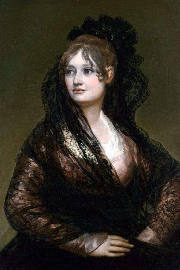 ドンナイザベルデポルセル   Francisco de Goyaの肖像