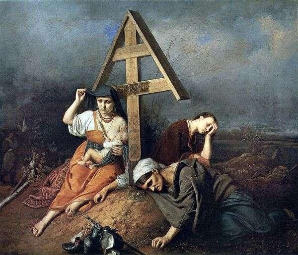 墓の上のシーン   Vasily Perov