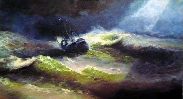嵐の中の船「皇后マリア」   Ivan Aivazovsky