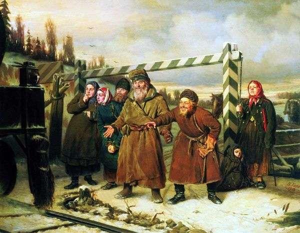 鉄道シーン   Vasily Perov