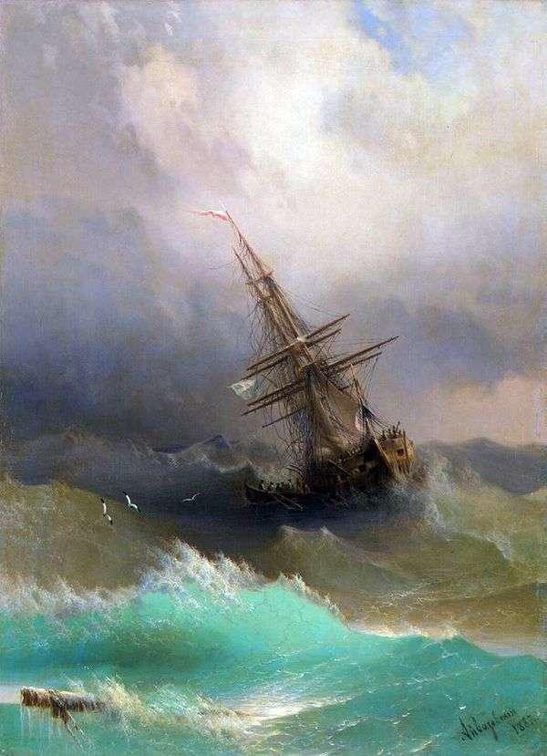 荒れた海の真ん中で出荷   Ivan Aivazovsky