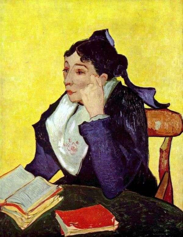 Arlesianka:書籍とZhinuマダム   Vincent Van Gogh