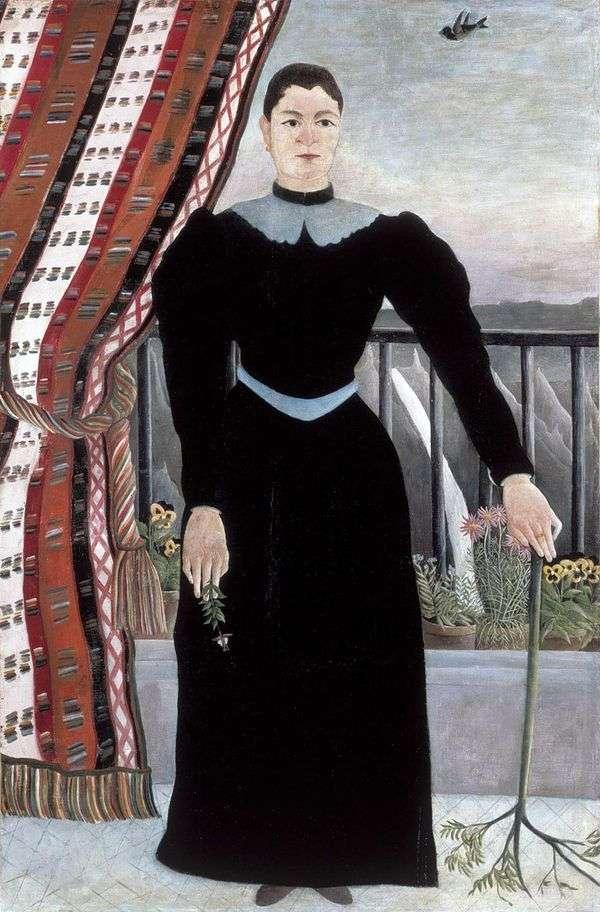 女性の肖像   アンリ・ルソー