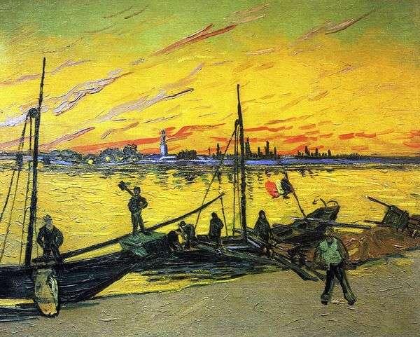 石炭バージ   Vincent Van Gogh