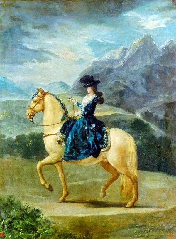 馬に乗って   フランシスコデゴヤマリアテレジアデブルボンヌ   ヴァラブリガの肖像画