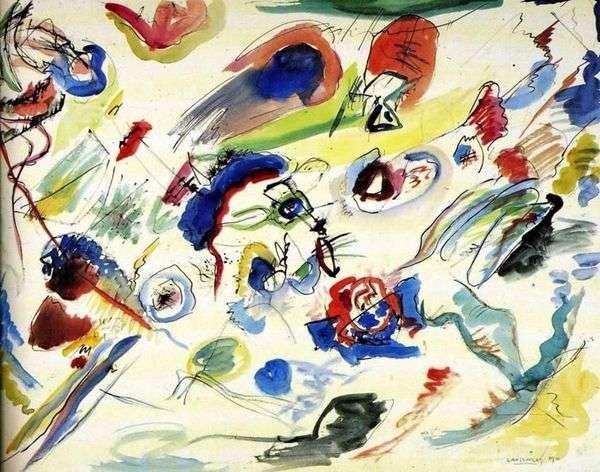 最初の抽象的な水彩画   ヴァシリーカンディンスキー