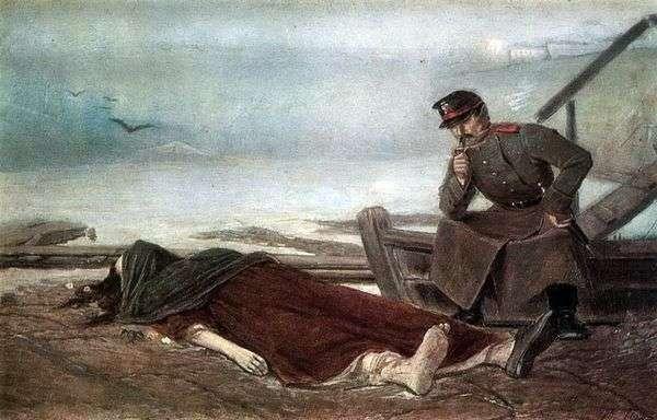 溺死した女性   Vasily Perov