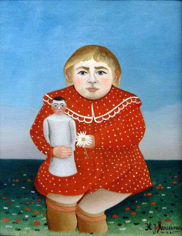 人形を持つ子供   アンリルソー