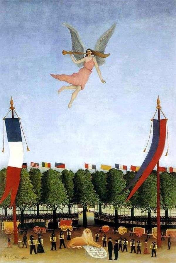 自由を招いてアーティストをXXIIインディペンデントサロンに参加させる   Henri Rousseau