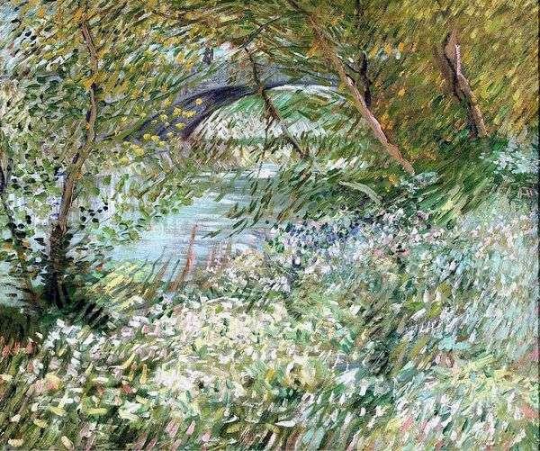 春にポンドクリシーのセーヌ川のほとり   ヴィンセントヴァンゴッホ