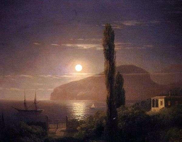 クリミア半島の月明かりの夜   Ivan Aivazovsky