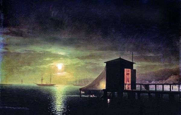 月夜 フェオドーシアのお風呂   Ivan Aivazovsky