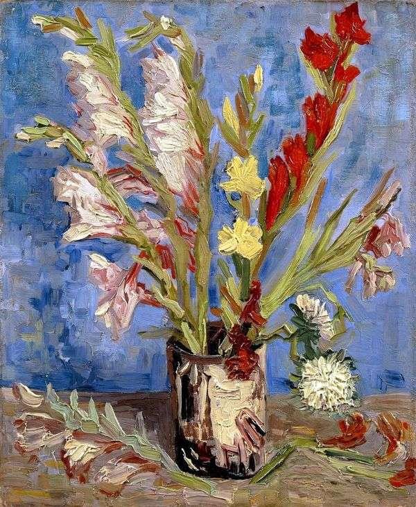 グラジオラスの花瓶   Vincent Van Gogh