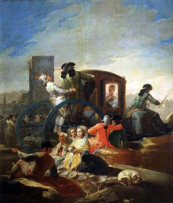 料理の販売者   Francisco de Goya