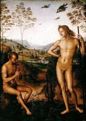 アポロとマルシャス   Pietro Perugino