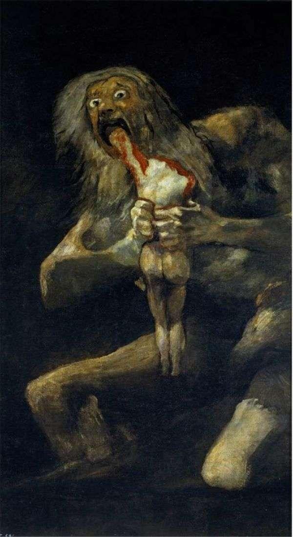 彼の息子を食べて土星   フランシスコデゴヤ