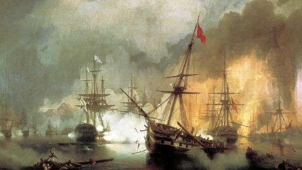 1827年10月2日、ナヴァリンの海戦   イヴァン・アイヴァゾフスキー