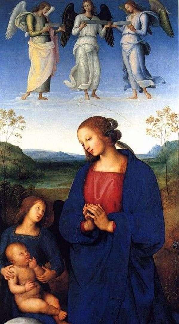 マドンナ、子供と天使   Pietro di Christophero Vanucci Perugino