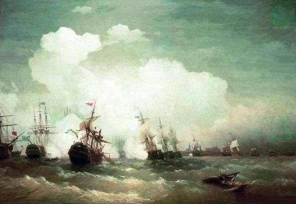 レベルの海軍戦   Ivan Aivazovsky