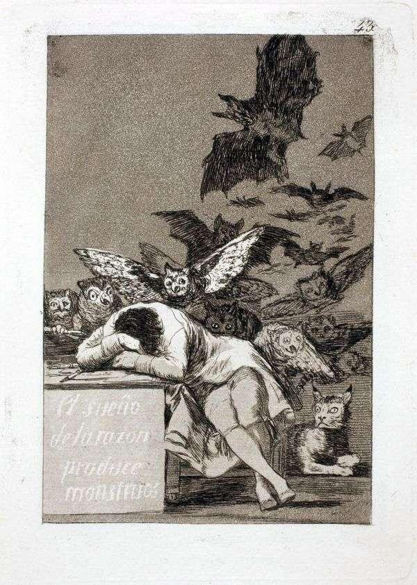 理性の眠りが怪物を生み出す   Francisco de Goya