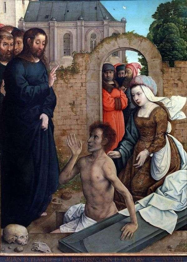 ラザロの復活   Juan de Flandes