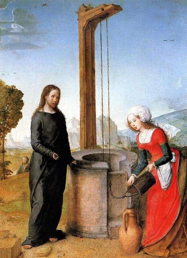 キリストとサマリア人女性   Juan de Flandes