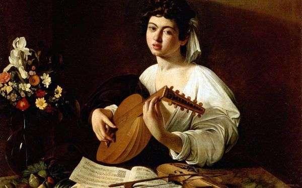 リュートを持つ少女   Michelangelo Merisi da Caravaggio