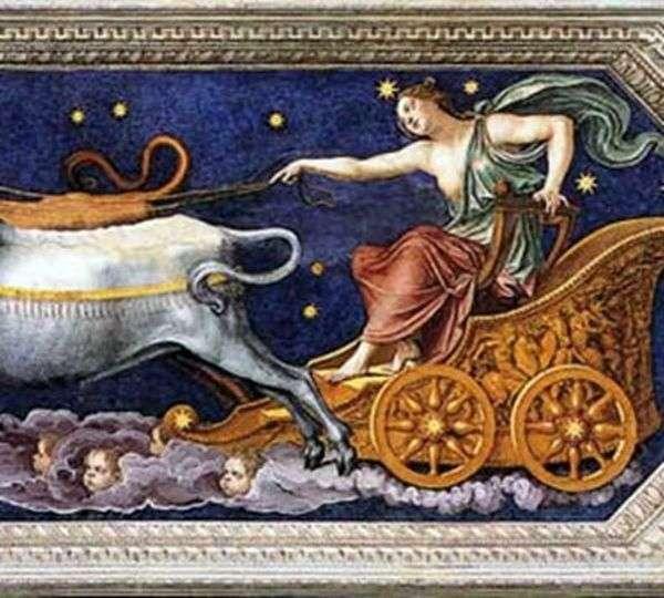 木星の馬車に乗ったニンフカリスト   Baldassare Peruzzi