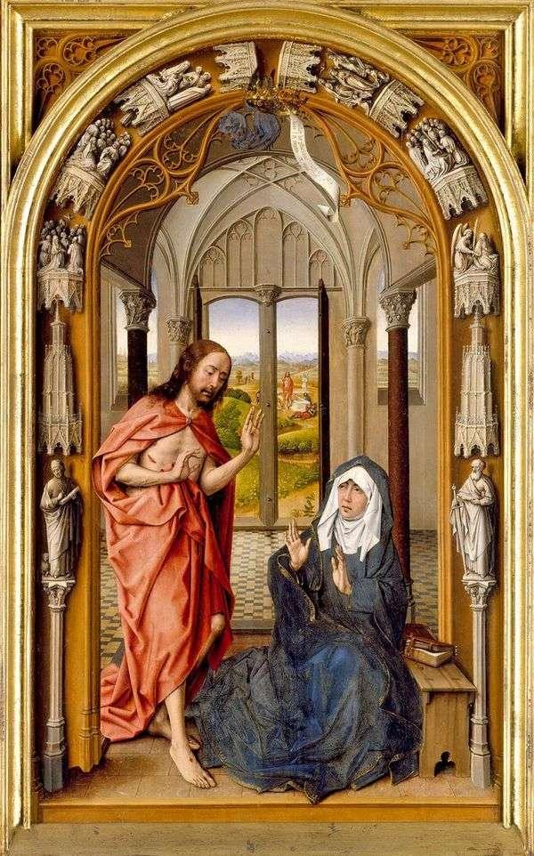 マリアへのキリストの出現   Juan de Flandes