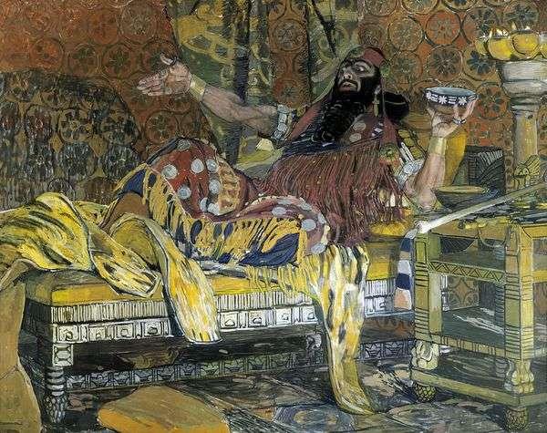 HolofernesとしてのF. I. Chaliapinの肖像   Alexander Golovin