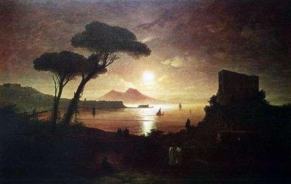 月明かりの下でナポリ湾   Ivan Aivazovsky
