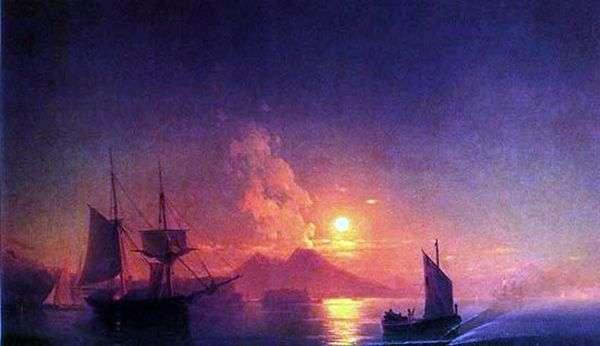 月明かりの夜   Ivan Aivazovskyのナポリ湾