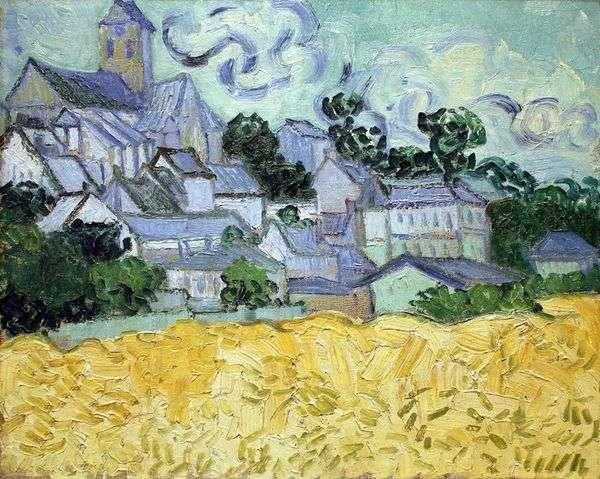 オーヴェルと教会の眺め   Vincent Van Gogh