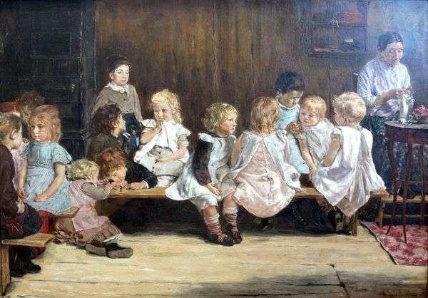 アムステルダムの幼稚園   マックス・リーバーマン