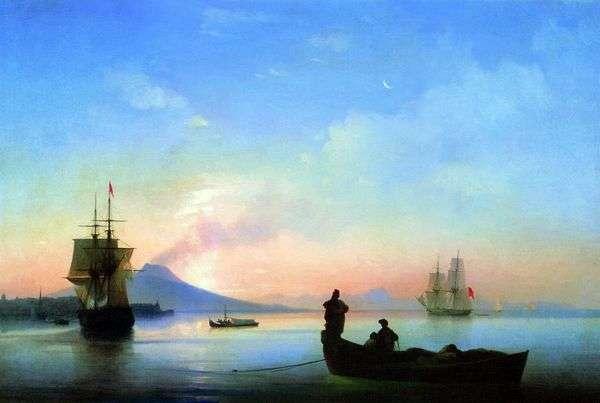 朝のナポリ湾   Ivan Aivazovsky