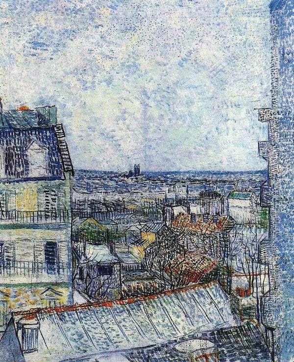 Rue Lepic II   Vincent Van Goghのヴィンセントの部屋からのパリの景色
